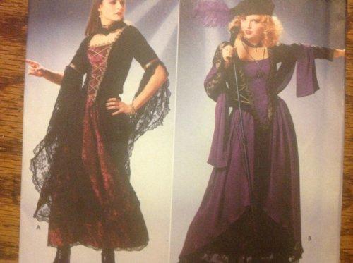 nittmuster 4-8Goth Gypsy Renaissance Kostüme Schnittmuster für Mütze, Schal, Hals, Korsett Top, Overlay Röcke Muster ()