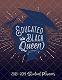 Educated Black Queen - 2018 / 2019 Student Planner (Blue, Red and Gray): 2018 Gift Ideas - Calendars, Academic Planners & Personal Organizers - ... Black Women, Black Girl Magic, HBCU Students)