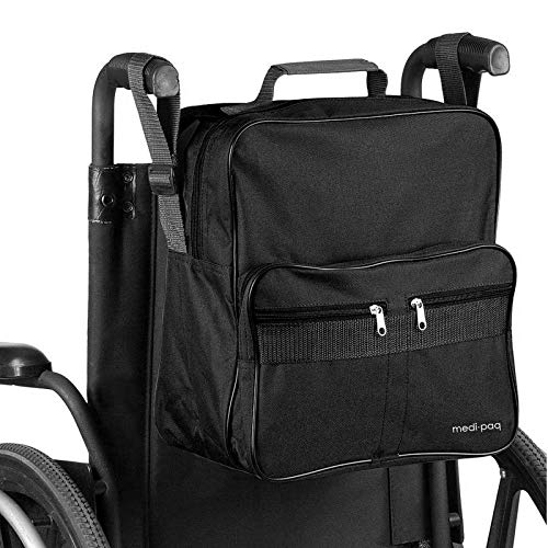 Deluxe And Handles Medipaq Useful To Bag VersionAttaches Wheelchair Bag2018 The Provide Convenient Upgraded Storageblack L4R5Acjq3
