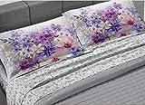GEMITEX Tradizione Tessile GTT01, Colore 03 Rosa Completo Letto Matrimoniale Maxi 100% Cotone 30/27, FEDERE GUANCIALI con Stampa Digitale, Made in Italy