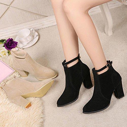 Occasionnels Noir Hauts Femmes Coloré Givrée Bottes Chaudes Botte Glissière Femme Classiques Boots Martin Chaussures Pour Tm Talons a0xgdY
