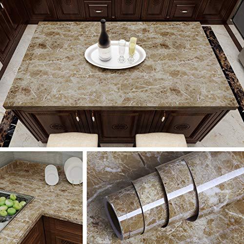 Livelynine Instant Granit Arbeitsplatte Folie selbstklebend Marmor Kontaktpapier Dekorative Akzente Wand Peel and Stick Tapeten Küche Arbeitsplatte Esstisch Abdeckung