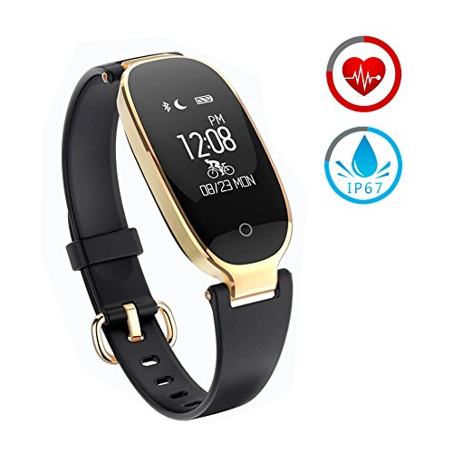 Montre Sport ZKCREATION Montre Connectée K3 Fitness Tracker d'Activité Cardiofréquencemètre Bluetooth Smartwatch Podomètre Etanche IP67 Moniteur de Sommeil Compatible avec Android et iOS(Noir)