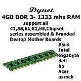 4gb DDR -3 Ram 4gb DDR-3 1333 Mhz Desktop Mother Board Ram Suitable For All DDR-3 Supported Desktop & Branded Machine Mother Boards(Intel41WV.,55,61,81 Chipset Series All Branded Desktop Mother Board Supported)