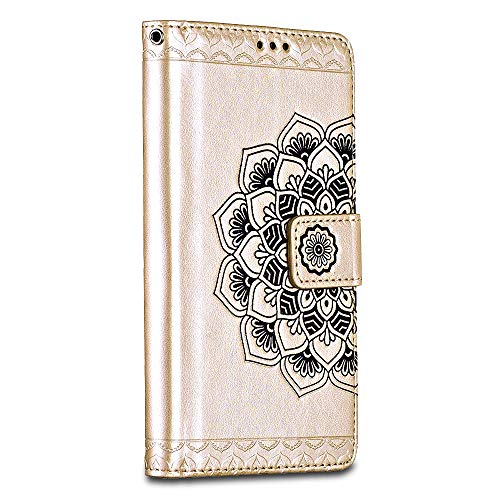 Bravoday Cover Huawei P10 Lite, Custodia Huawei P10 Lite Portafoglio in Pelle Con Porta Carta di Credito, Chiusura Magnetica per Huawei P10 Lite