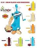 #8: Kitchen Khajana™ Multi-Functional 6 in 1 Drum Slicer and Shredder (Transparent Elegant Look)