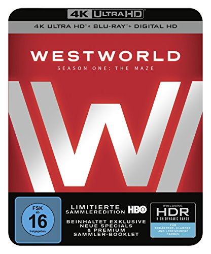 Westworld Staffel 1: Das Labyrinth (Steelbook) - Ultra HD Blu-ray [4k + Blu-ray Disc]