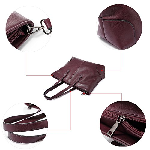 Borse per borsa a tracolla di borsa della borsa delle donne grande capacità Nero