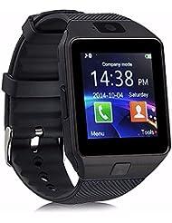 Bluetooth Smartwatch DZ09 Smart Watch avec podomètre Anti-perdu appareil photo pour Iphone Samsung Huawei Android IOS (Black)