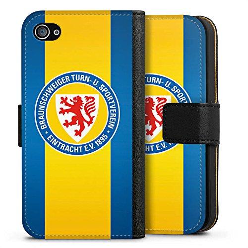 Apple iPhone X Silikon Hülle Case Schutzhülle Eintracht Braunschweig Fanartikel Fussball Sideflip Tasche schwarz