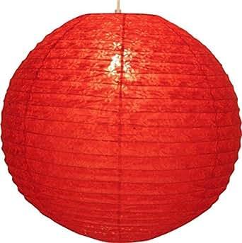 Corona rond de 50 cm de papier de riz abat-jour/ Variante: Couleur: rouge