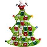 Wer Natale - 40 cm, calendario dell'avvento, DISEGNO o verde albero di Natale