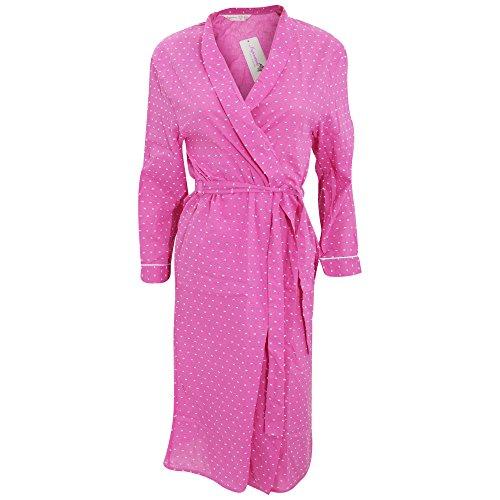 Damen Morgenmantel, gemustert, dünn Pink