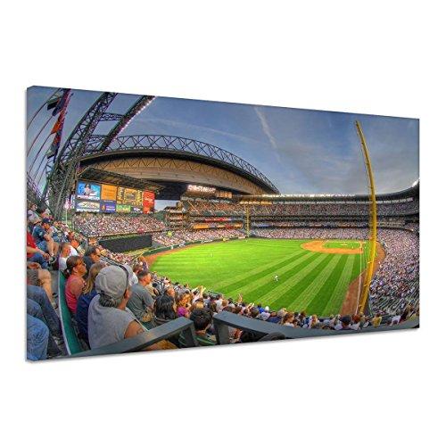 Stadion Tribüne Fans Zuschauer Baseball Leinwand Poster Druck Bild qq0336 90x60 (Baseball-kunst-drucke)
