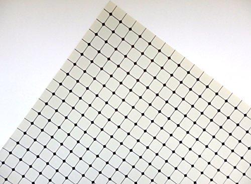 Melody Jane Puppenhaus schwarz auf grau Fliesen Effekt Papier Miniatur 1:12 Maßstab Bodenbelag (Miniatur-fliesen)