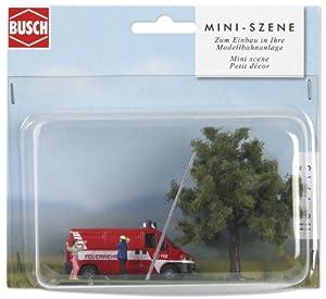 Busch 7713 - Mini-mundo: Escena de rescate Importado de Alemania