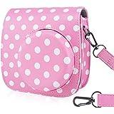 Fujifilm Instax Mini 8 / Mini 8 + / Mini 9 Case Bag - Wolven Polka Dots Case Bag Purse For Fujifilm Instax Mini 8 / 8+ / 9 - Pink Polka Dots
