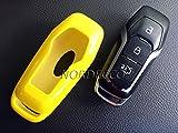 Hochglanz Hartschale 201520162017Ford 3Button Smart Keyless Fob Fernbedienung Displayschutzfolie, für Ford Mustang 5.0GT Mondeo Fusion Galaxy (gelb)