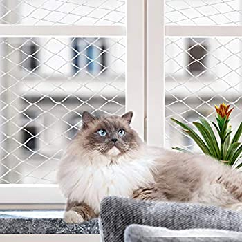 Pawise Filet de Protection pour Chat pour Balcon Transparent (800 x 300 cm)