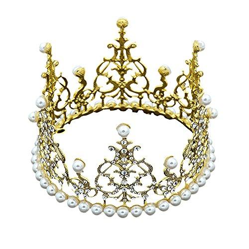 Prinzessin Krone Kuchen Topper Kuchendekoration Baby Shower Geburtstag Party Hochzeit Dekoration (Gold, A)