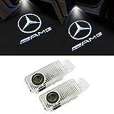 LIKECAR 2 pcs lumières de Porte projecteur de Voiture Car LED Bienvenue Logo(W203-AMG)