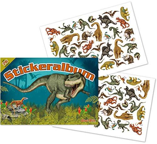 mit über 70 Sticker * Dinos * von Lutz 72018 | T-Rex Dinosaurier Tattoo Kindersticker Aufkleber Stickerbuch für Kinder ()