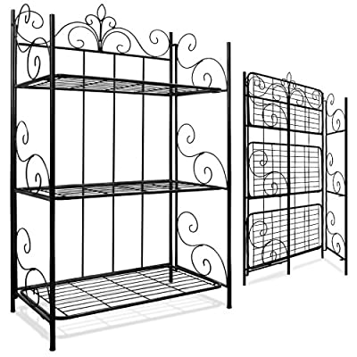 Wall Shelf Metal Shelf standing shelf Garden Shelf Iron Shelf folding shelf XL