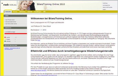 BilanzTraining Online (NWB Studium Betriebswirtschaft)