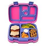 Bentgo Kids Brights – Kinder Lunchbox/Bento Box/Brotdose mit 5 Unterteilungen, auslaufsicher (Fuchsia)