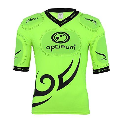 Optimum, Maglietta con rinforzi protettivi su spalle Uomo Tribal Top, Giallo (Fluorescent Yellow/Black), S