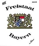 Auto-Aufkleber - FREISTAAT BAYERN - Gr. ca. 9,5 x 12cm (301446) Wappen Landeszeichen Flagge