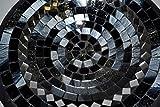 Teller in Mosaiktechnik Dekoteller schwarz/silber 27cm - 3