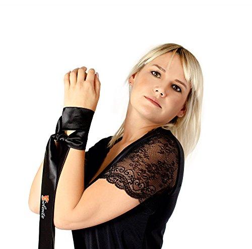 Selente verführerisches 2-teiliges Damen Dessous-Set mit Body / Ouvert und exklusiver Satin-Augenbinde made in EU Rot