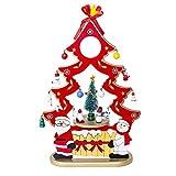 ZHRUI Ornamento Natalizio, Cofanetto in Legno Regalo + Pupazzo di Neve di Babbo Natale Decorazione Desktop + Regali di Artigianato