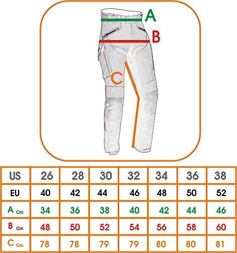 Pantaloni-Donna-Moto-Cordura-Protezioni-CE-Sfoderabile-Impermeabile-Donna-38