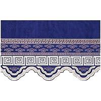 """Wukong Paradise Decoración del hogar Tratamientos de Ventanas Cortinas de Cortinas Cenefas para el Dormitorio/Sala de Estar Tejidos de Chenilla 39.37"""" x25.59 (Azul Marino)"""