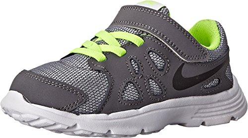 Nike Unisex Baby Revolution 2 TDV Sneaker, Schwarz/Grau/Schwarz (Wolf Grey/Black-Dark Grey-Blk), 19 1/2 EU - Revolution Nike Mädchen 2
