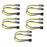 Demiawaking 5pcs 8Pin zu Grafikkarte Doppel PCI-E 8Pin (6Pin + 2Pin) Stromkabel