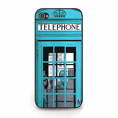 Iphone 5/5s Case,Novelty Exquisite British Phone Booth Phone Case Cover for Iphone 5/5s Phone Booth Shell Cover Color144d