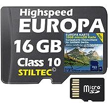 ★EUROPA Karte Topo Höhenlinien 16GB ! microSD Garmin Oregon450 600 Edge800 810★ ORIGINAL von STILTEC ©
