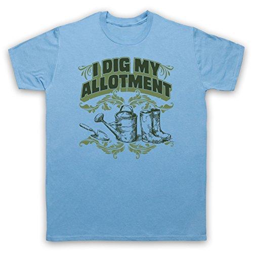 I Dig My Allotment Gardening Slogan Herren T-Shirt Hellblau