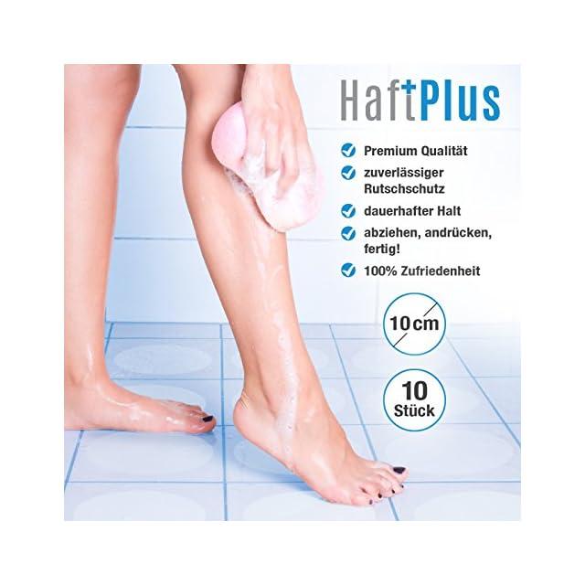 ... HaftPlus - Stickers Antidérapant Baignoire Douche, Protection  Antiglisse Salle de Bain, transparent   lot 51ec9e367210