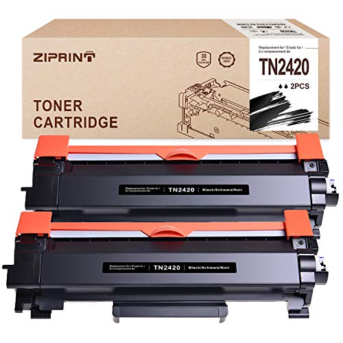 ZIPRINT 2 pack Nero toner MIT CHIP Compatibile Brother TN2420 TN-2420 pour Brother HL-L2310D HL-L2350DN HL-L2370DN HL-L2375DW DCP-L2510D DCP-L2530DW MFC-L2710DN MFC-L2730DW MFC-L2750DW