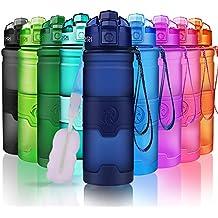 Botella de Agua Deportiva a Prueba de Fugas | Tritan Reutilizable Plástico Ecológico Botellas Sin BPA
