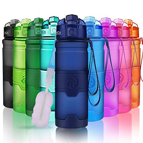 ZORRI Sport Wasserflasche 1000ml/32oz Trinkflasche Bpa Frei Tritan Schule Sportflasche Trinkflaschen für Kinder,Fitness,öffnet Sich mit 1-Click - Wiederverwendbare mit dicht schließendem Deckel