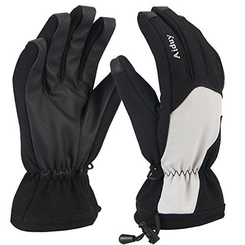 Ski Gloves, Aiduy Full Finger Winter Gloves Waterproof Windproof Ski Gloves for Professional skiing, Outdoor Camping Hiking Climbing Mountain