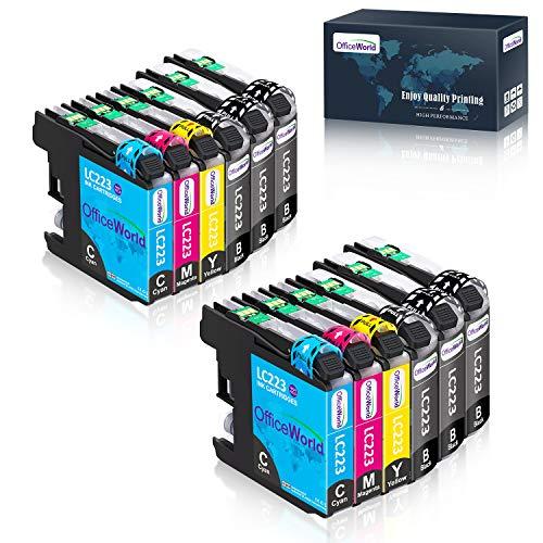 OfficeWorld Ersatz für Brother LC223 Druckerpatronen Kompatibel für Brother MFC-J5320DW DCP-J4120DW MFC-J480DW MFC-J5720DW MFC-J5625DW MFC-J4620DW MFC-J4420DW MFC-J880DW MFC-J4625DW DCP-J562DW