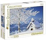 Clementoni Puzzle 30365 - White Alpen -  500 pezzi High Quality Collection