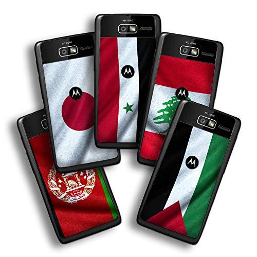 atFolix Designfolie kompatibel mit Motorola Razr i, Skin Aufkleber (Flaggen aus Asien) -