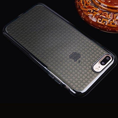 BING Für iPhone 7 Plus Dumbbell Texture Transparente TPU Schutzhülle BING ( Color : Blue ) Black